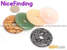40mm Round Donut Rings  Craft Jewelry Making Design Beads Gemstone 1 PCS DIY