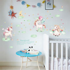 Cartoon Unicorn Wall Sticker For Kids Girls Rooms Wall Art Decal Home Decoration