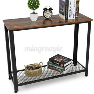 Modern Console Table Sofa Side Stand with Storage Shelf for Entryway