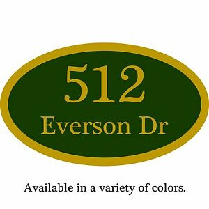 """Custom Home Address Plaque Personalized Aluminum Sign 12"""" x 7"""" Choice of Colors"""