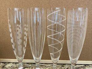 """MIKASA CRYSTAL 'CHEERS"""" 16 0Z PILSNER BEER GLASSES- SET OF (4)"""
