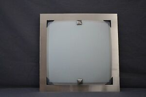 Crompton 42W Large Square Oyster Satin Nickel Light Fitting (EX2010L)