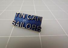"Silver Tone Blue Enamel TIN CAN SAILORS Lapel Pin 1 1/4"""