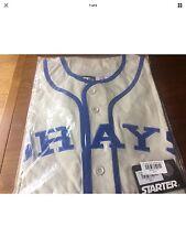 Bnwt Blu e Grigio Stile Classico Baseball Camicia-MUSEO REPLICA Style Size XXL