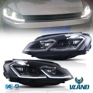 VLAND Fari anteriori per VW GOLF 7 VII MK7 2013-2017 con sequenziale LED alogene