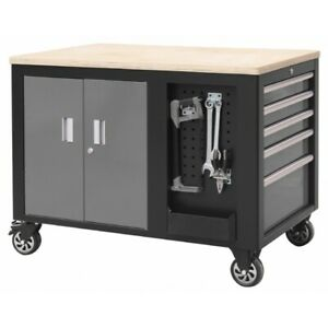 Island Bench Industrial Heavy Duty Rolling Cabinet with 10 Drawer & 1 Cupboard