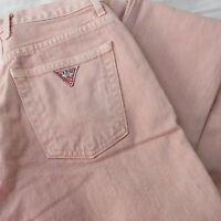 women's Vintage GUESS jeans size 30 x 30 peach 80's 90's Triangle logo EUC