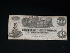 High Grade $100 Confederate Currency Series 1862 Au. #14