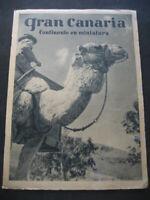 ANTIGUO FOLLETO DE TURISMO ISLA DE GRAN CANARIA. HUECOGRABADO FOURNIER. AÑOS 50