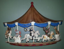 Vintage 1979 Homco Merry Go Round Carousel Circus Animals Wall Plaque