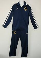 ~Adidas LOS ANGELES GALAXY Soccer Football LA Track jersey suit Jacket-Pants~Lrg