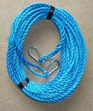 50FT OF NEW 10MM ROPE ANCHOR BOAT MOORING WITH 10MM SNAP HOOKS BOTH ENDS '