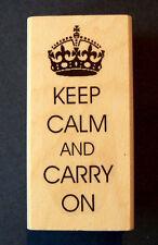 "P5  ""Keep calm and carry on"" British stamp WM 2.25x1"" WM"