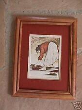 R C Gorman, Corn Woman Framed, matted Navajo print 10 x 13