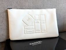 Chanel Skincare White Pouch Clutch Cosmetics Makeup Bag New In Box Vip Gift