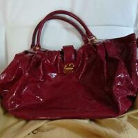 LOUIS VUITTON M95881 Surya Shoulder Hand Tote Bag Monogram Ruby Red Rare Used