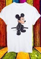 Samurai Mickey Mouse サムライ Cartoon Character Men Women Unisex T-shirt 2735