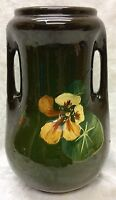 1905-10, Brush McCoy Art Pottery, Loy Nel Art, Nasturtium Double Handle Vase #03