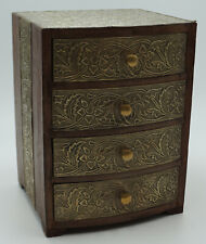 Schubladenbox 19,5x18,5x26cm Schatzkiste Schatztruhe Truhe Holztruhe Holzbox