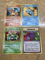 Pokemon Card Japanese Charizard Blastoise Venusaur Please Trade! Holo Promo JP