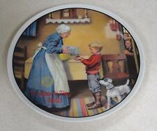 """Norman Rockwell """"The Pantry Raid"""" Knowles Collector Plate Sfrm-Nb69"""