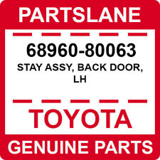 68960-80063 Toyota OEM Genuine STAY ASSY, BACK DOOR, LH
