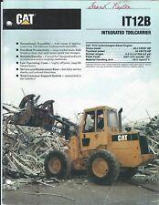 Equipment Brochure - Caterpillar - It12B - Integrated Toolcarrier - 1990 (E3992)