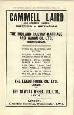 1927  Newlay Wheel Company Leeds Forge Midland Railway Carriage Wagon Ad