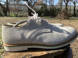 Walk-Over WM6010 White/Green Suede Men's Shoes Size 11.5 M Made In USA