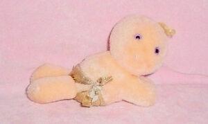 Vtg-1984-80s Hallmark-Hug A Bye Baby-Hugga Bunch-Stuffed Toy Doll Gold Diaper