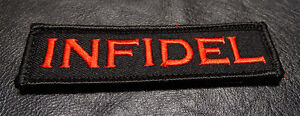INFIDEL TACTICAL MORALE ACU 3.75 inch MILITARY RED HOOK PATCH