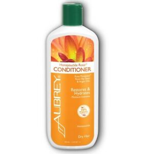 Aubrey Organics Honeysuckle Rose Conditioner Restores Hydrates Moisture Dry 11oz