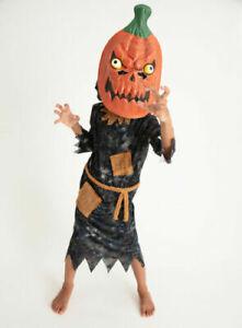 Kids Petrifying Pumpkin Reaper Halloween Fancy Dress Costume Age 3-4 Years BNWT