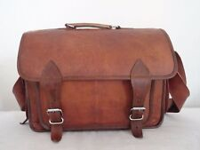 "12X16"" Real Leather DSLR Camera Briefcase Satchel Attache Messenger Bag"