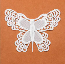 2pcs butterfly shape Embroidered Lace Applique decoration Clothing craft
