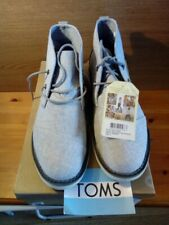 New TOMS Drizzie Grey Slub Chambray Chukka boots size 10 UK brand new in box
