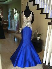$700 NWT ROYAL BLUE JOVANI PROM/PAGEANT/FORMAL DRESS/GOWN #99326 SIZE 0