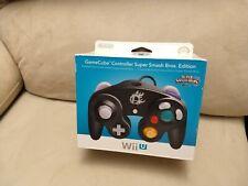 (NEW) Nintendo GameCube Controller Wii U Super Smash Bros. Edition Black(SEALED)