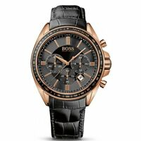 Hugo Boss Driver Black Leather Mens Designer Watch HB1513092