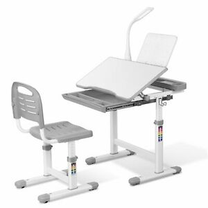 Kids Desk and Chair Set Height Adjustable School Student Study Functional Table