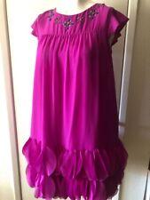 Cat & Jack Girl's Dress Maxi Solid Pink Flower Detail XL 14-16