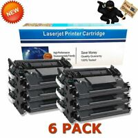 6 Pack CF226X 26X High Yield Black Toner for HP LaserJet Pro M402n M426 M426fdw