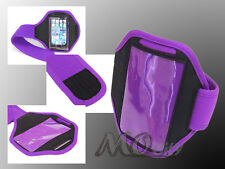 Gym Running Sport Armband Case Cover for Apple iPhone 3/3GS/4/4S/5 PURPLE