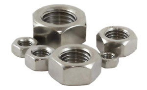 METAL NUTS M8, M10, M12, M14, M16, M20 Hex Full Bright Zinc Plated From TIMCO