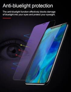 For iPhone 12 11 Pro Max 8 Xr 8+ Anti Blue Light Tempered Glass Screen Protector