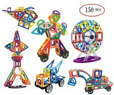 Magnetic  Building blocks, STEM learning building tile set(150PC)