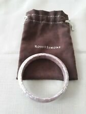 Ross Simons Iridescent MOP Mosaic Bangle Bracelet W/ Pouch