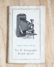KODAK NO. 2C AUTOGRAPHIC SPECIAL INSTRUCTION BOOK, COVERS WORN/cks/200535