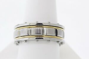 Shaquille O'Neal 10.5mm Two-Tone Stainless Steel Riveted Polished Band Ring