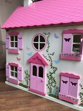 ELC Rosebud Cottage Wooden Dolls House includes lots of Furniture and People